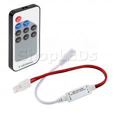 LED мини диммер радио (RF) с пультом Д/У 72 W/144 W, 9 кнопок