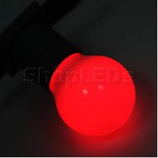 Лампа шар e27 3 LED ∅45мм - красная