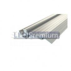 Профиль алюминиевый для ступеней без резиновой вставки PDS-1867-2 Anod