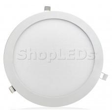 Светодиодная панель BRL-T-300-24W (белый круг, 24W, 300x13mm) (белый 6000K)