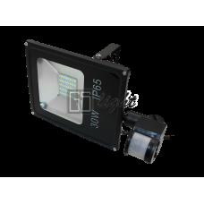 SMD SLIM 30W 220V IP65 Warm с датчиком